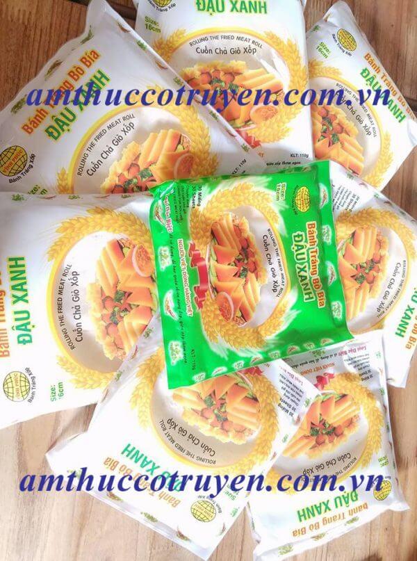 Bánh tráng bò bía đậu xanh